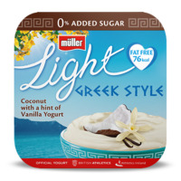 Greek Style Coconut with a hint of Vanilla - x4