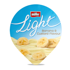 Müllerlight Banana & Custard Flavour