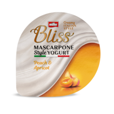 Bliss Mascarpone Peach & Apricot